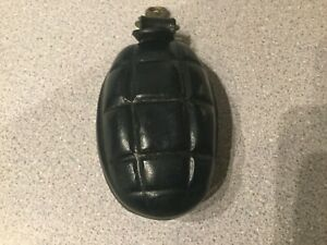 Hand Made  Leather Key Fob Purse Turtle Shell Grenade