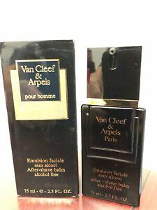 VANCLEEF & ARPELS POUR HOMME 2.5 FL oz / 75 ML After Shave Balm Acohol Free