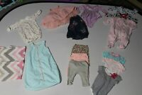 Lot of 15 0-3 Baby Girls Clothes Calvin Klein Carters & Other Brands One-Piece