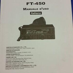 MANUALE IN ITALIANO  ORIGINALE  istruzioni d'uso per YAESU FT-450
