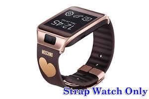Original OEM Samsung Gear 2/Neo Wrist Strap Band Brown Gold Heart **STRAP ONLY**
