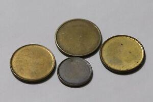 ERROR COINS GERMANY FEDERAL REPUBLIC 4 BLANK DISCS B36 RR11