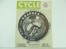 Vintage April 1961 CYCLE Magazine Parilla Grand Prix Scrambles Jawa Vespa L2854