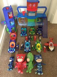 Pj Masks Headquarters Playset Tower Cars Figures Soft Toy Large Bundle