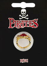 Pirate Gold Plated Gem Ring  -  Fancy Dress Captain Jack Sparrow