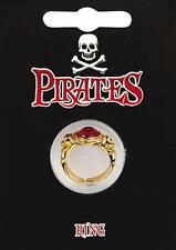 Placcato in oro dei pirati Gem Ring-Costume Capitan Jack Sparrow