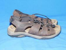 7cf139ed1a3 Abeo 11 N Anacapa Sandals Dark Brown Leather Ankle Strap Neutral Footbed  11N Men