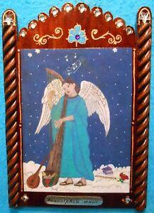 "Archangel Sandalphon Retablo -""Patron of Music and unanswered Prayers"""