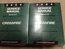 2004 CHRYSLER CROSSFIRE Service Shop Repair Manual Set BRAND NEW FACTORY OEM