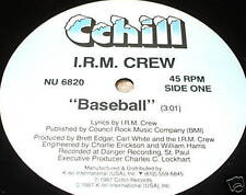 "IRM CREW Baseball 12"" RECORD PRIVATE MN RAP BREAKS"