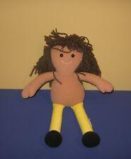 """Eden African American Rag Doll 15"""" Ragdoll Stuffed Plush w/ Yarn Hair"""