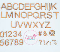 30mm Wooden Letters A-Z Full Alphabet  Numbers Laser Embellishments Decoupage AR