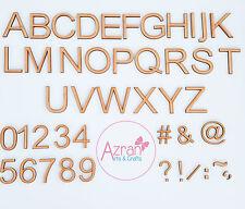 50 mm in Legno Lettere A-Z alfabeto completo & numeri LASER DECORAZIONI DECOUPAGE
