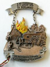 More details for germany 1979 fire brigade of plattenhardt commemorative badge plaque high relief