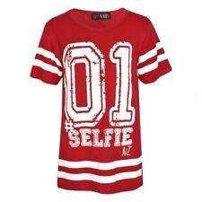 Camisas de niño de 2 a 16 años de color principal rojo