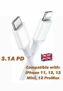 Iphone 12,12 Pro, Max ,iphone 11 USB Type C Fast Charger 3.1A Data Sync Cable