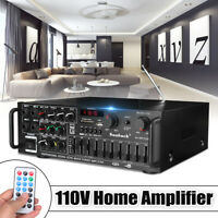 2000Watts EQ 2 Channel Bluetooth Home Stereo Power Amplifier Audio Amp USB FM SD