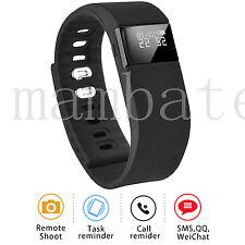 Bluetooth Smart Watch Bracelet Wristband Pedometer Sport Fitness Tracker Black