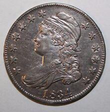 1834 Bust Silver Half CC44