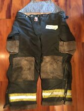Firefighter Turnout Bunker Pants Cairns 42x28 BLACK Bib Halloween Costume