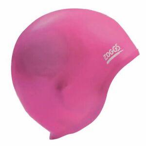 Zoggs Ultra Fit Swim Cap - Pink , Silicon Swimming Cap