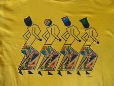 Vintage African Tribal Dance BLACK HISTORY MONTH 90's Rap Hip Hop T Shirt XL