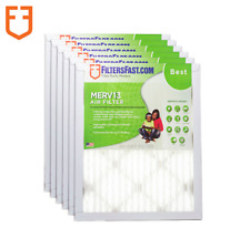 """Filters Fast 1"""" Home Air Filters Merv 13 - Case of 6 Filters Made In The Usa"""