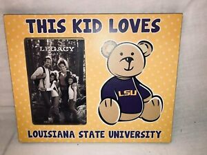 """Legacy Picture Frame  """"This Kid Loves LSU""""  for 4"""" x 6"""" Photo"""