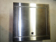 HAWS Recessed Stainless Locking Cabinet 14X14 Surface Mount HAWS9205EWCABRSS