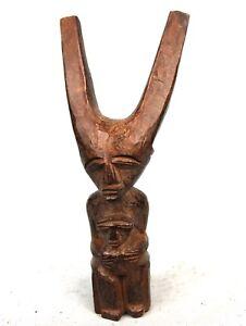 Art Africain - Ancien Lance Pierre Fronde Slingshot Maternité Lobi - 19 Cms ++++