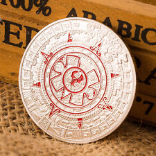 Silver Plated Mayan Aztec Prophecy Calendar Commemorative Coin Collection GiftKK