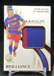 DANI ALVES FC Barcelona 2019-20 Immaculate Brillance MATCH WORN Jersey SP #/50