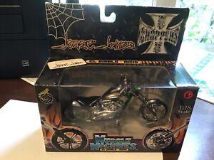 Jesse James 1:18 Scale El Diablo-Rigid West Coast Choppers Silver Green Blue