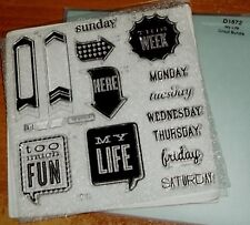 CTMH D1572 MY LIFE CRICUT BUNDLE ~ DAYS OF WEEK,TOO MUCH FUN