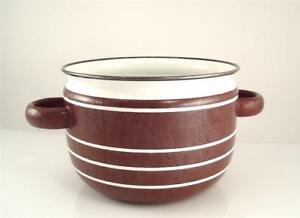 Carl AUBOCK Design Brown Enamel Steel POT OSTOVICS Culinar Vienna Austria Used