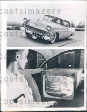 1956 TV Camera on Bumper & TV Used in General Motors Auto Testing  Press Photo