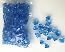 BLUE ACRYLIC ICE 480G (2cm wide) Scatters & Vase Fillers for WEDDINGS