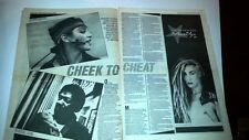 MADONNA Cheek 1983 2 page UK ARTICLE / clipping