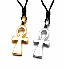 Egyptian Ankh Cross Ra Silver Pewter Gold Brass Necklace Pendant Jewelry