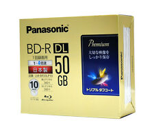 10 Panasonic Bluray Disc 50GB BD-R DL 4x Inkjet Printable 3D Blu ray Region Free