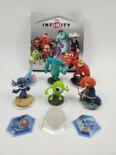 Disney Infinity 1.0 2.0 Lot Book 6 Figures 2 Power Crystals 2 Discs