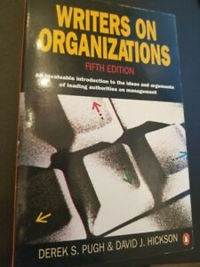 Writers On Organizations 5th Edition (Penguin Business)
