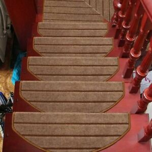 Carpet Stair Tread Mats Step Rugs 16 Pcs/Set Home Staircase Non-slip Protections