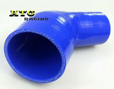 """Blue Silicone Hose 2.5"""" to 3"""" inch 64mm - 76mm 45 Degree Elbow Reducer Pipe"""