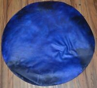"20"" Blue Dyed Goat Skin Djembe Drum Head - Only 3 Available Exclusive Rare"
