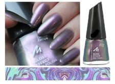 Gel Shine Gloss effect Purple nail polish by Manhattan shade is RAINBOW RIVER