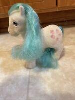 Vintage My Little Pony G1 1986 So Soft SS Flocked White MLP Cupcake