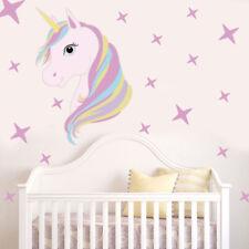 US STOCK Cute Unicorn & Bling Stars Wall Decal Stickers Vinyl Home Room Decor J