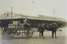 Antique Photo Fresno CA Valley Lumber H Graff  Co Store Horse Wagon Lally c 1910