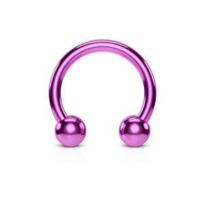 1pc Titanium Anodized Circular Barbell Horseshoe Septum, Eyebrow, Nipple Ring